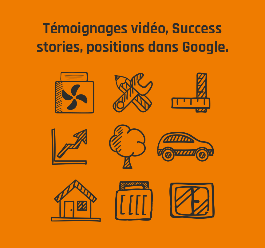 Témoignages vidéo, Success stories, positions dans Google.