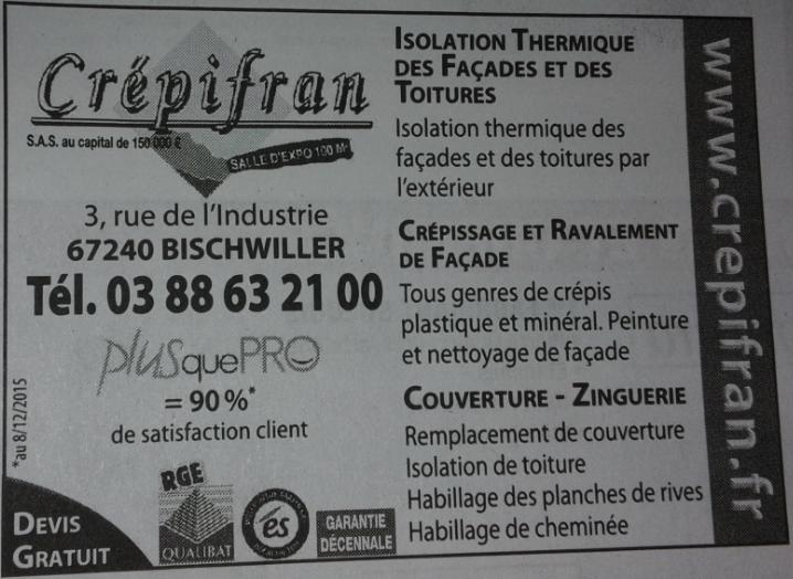 Encart publicitaire Crépifran