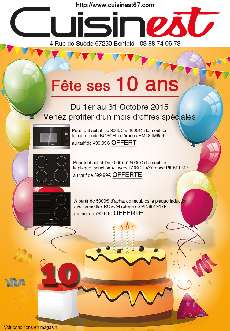 flyer 10 ans cuisinets