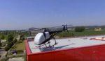 Un hélicoptère implanté sur le toit de Plus que PRO