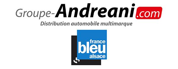 Logos Andreani France Bleu Alsace