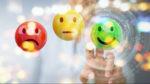 trois icônes d'évaluation client