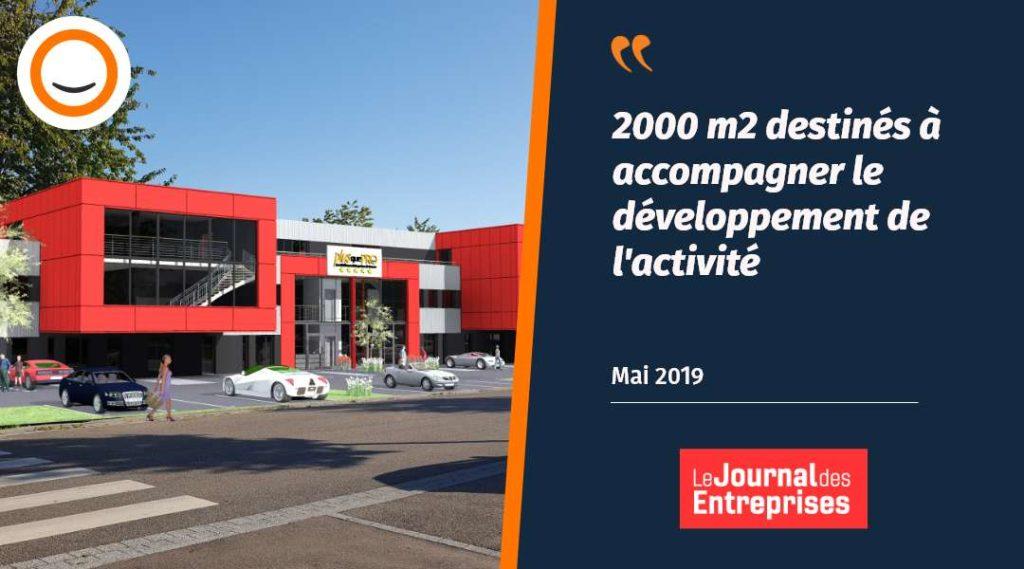 Le Journal des Entreprises parle des nouveaux locaux de Plus que PRO - Obernai